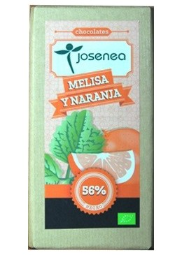 Chocolate Negro con Melisa y Naranja