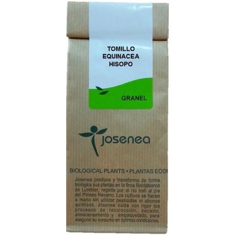 Tomillo, equinacea, hisopo